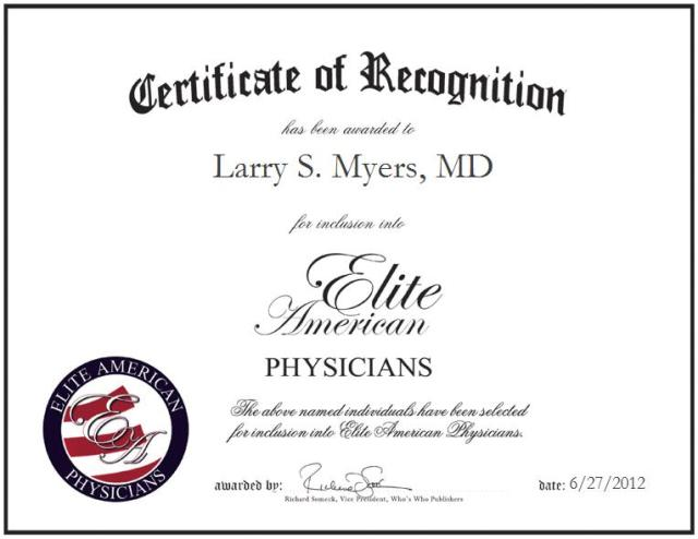 Larry S. Myers, MD